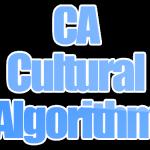 Algoritma CA (Cultural Algorithm)