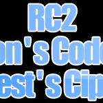 Algoritma RC2 (Ron's Code / Rivest's Cipher)
