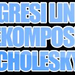 Regresi Linier dengan Dekomposisi Cholesky